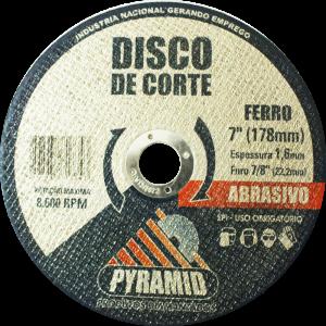 DISCO DE CORTE PARA FERRO 7'' (180MM)