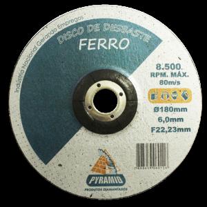 DISCO DE DESBASTE DE FERRO 7'' (180MM)