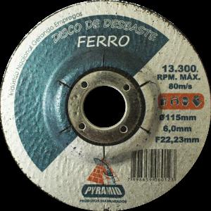 DISCO DE DESBASTE DE FERRO 4'' (115MM)