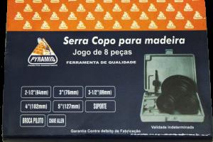 KIT SERRA COPO PARA MADEIRA 8 PEÇAS